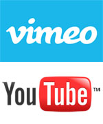 Home Movie YouTube and Vimeo Logos