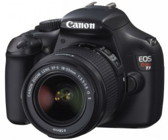 The Canon Rebel T3 with 18-55mm lens