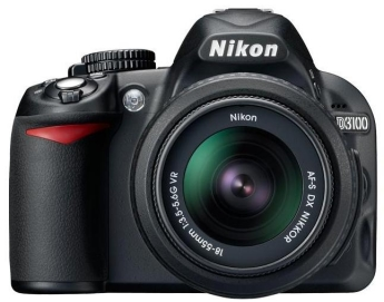 The Nikon D3100 with 18-55mm lens