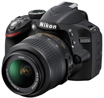The Nikon D3200 with 18-55mm lens